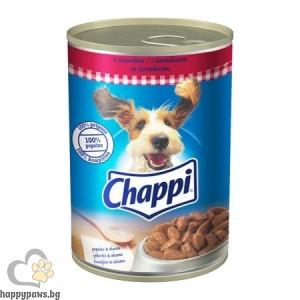 Chappi - консервирана храна за кучета над 12 месеца,с говеждо 400 гр.