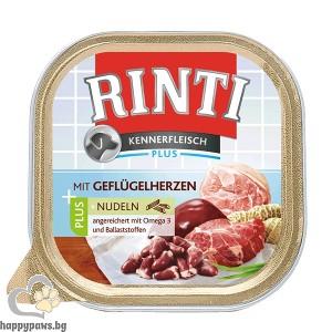 Rinti Gourmet Adult - пастет за кучета пилешки сърца с паста
