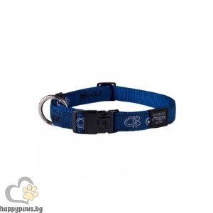 Rogz Navy Paws - тъмно синьо нашийник за кучета, различни размери
