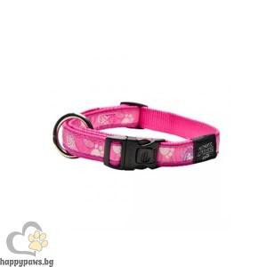 Rogz Pink Paw - розов нашийник за кучета, различни размери