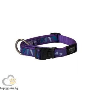 Rogz Purple Forest - лилав нашийник за кучета, различни размери