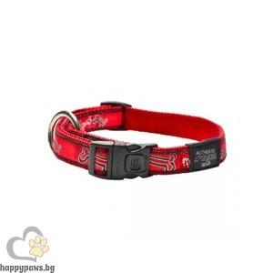 Rogz Red Bone - червен нашийник за кучета, различни размери