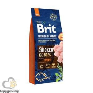 BRIT - PREMIUM SPORT суха храна за активни кучета над 12 месеца