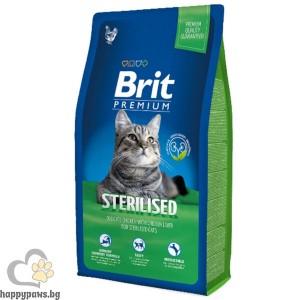 Brit - Premium Adult Sterilized суха храна за кастрирани котки над 12 месеца