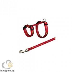TRIXIE - Нагръдник с повод, сет за гризачи, декоративен заек, 25 - 44/ 10 мм // 125 см