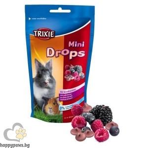 TRIXIE - Мини дропс плодове с вкус на горски плодове и ягода - 75 мл.