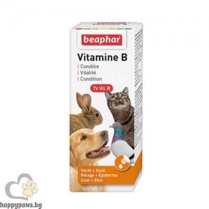 Beaphar Течен, високоусвояем витамини В в стъклено шише, 50 мл