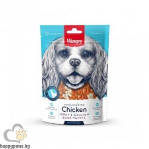Wanpy - Chicken Jerky & Calcium Bone премиум клас кокалчета с пиле за всички възрасти, печено на фурна, 454 гр