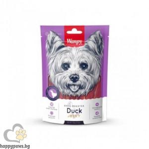 Wanpy - Duck Jerky премиум клас патешко филе за всички възрасти, печено на фурна, 454 гр