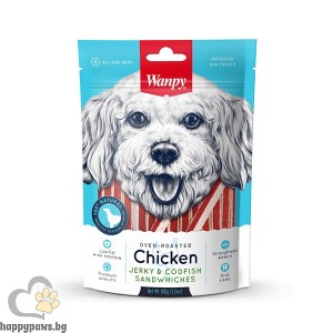 Wanpy - Chicken Jerky & Codfish премиум клас пиле и риба тон сандвич