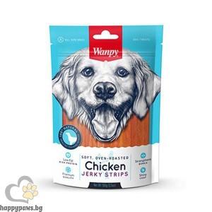 Wanpy - Soft Chicken Jerky Strips премиум клас меко пилешко филе на ленти