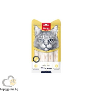Wanpy Creamy Chicken премиум клас кремообразно лакомство за котки с пиле, 5 x 14гр