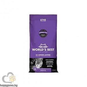 Worlds Best - Cat Scented Multiple cat litter котешка тоалетна с аромат на лавандула, различни разфасовки