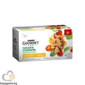 Purina - Gourmet Natures Creations консерви с пиле и пуйка
