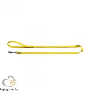 Hunter Повод Tripoli със светлоотразител - жълт, различни размери